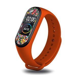 Image 4 - OOTDTY Anti scratch PET Colorful Screen Protector Protective Film for Xiaomi Mi Band 4 Smart Bracelet Accessories
