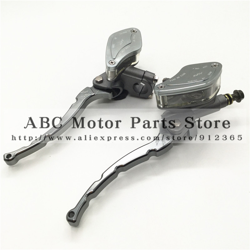 Hydraulic Brake Lever Left and Right for Electric motorcycle scooter  CNC aluminum lever M10 oil hose Titanium gray colour rubber seals for fluid and hydraulic systems
