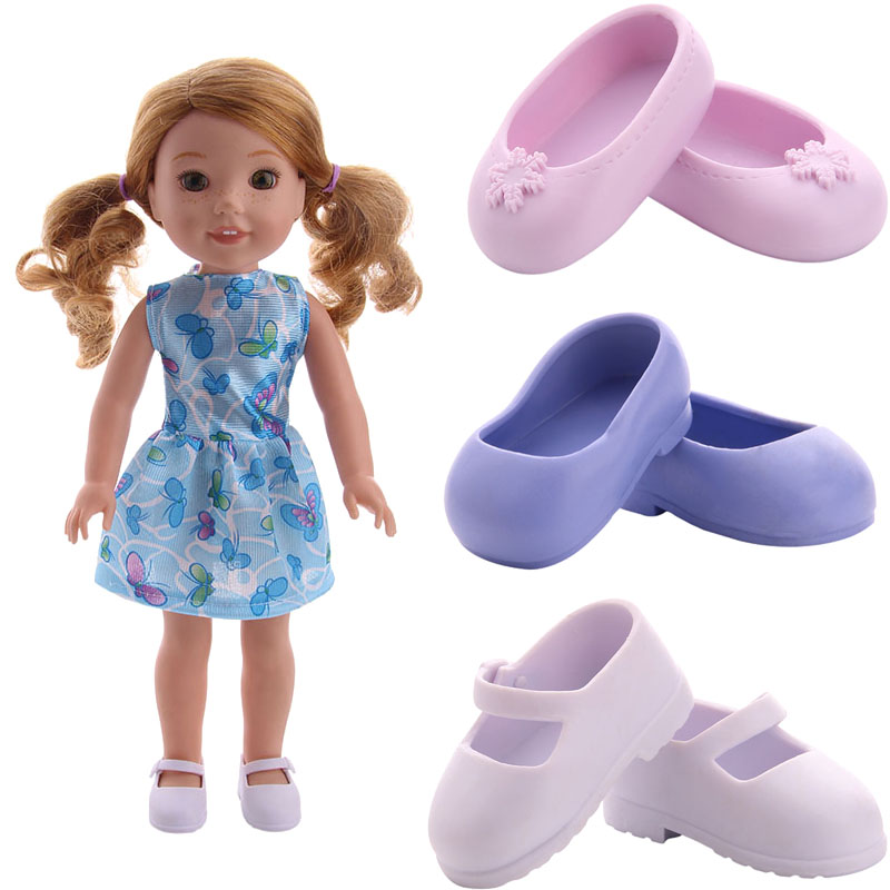 Doll Shoes High Quality Cute And Exquisite Shoes Suitable For 14.5 Inch Welliewishers Doll Accessories,Children's Toys,Generatio