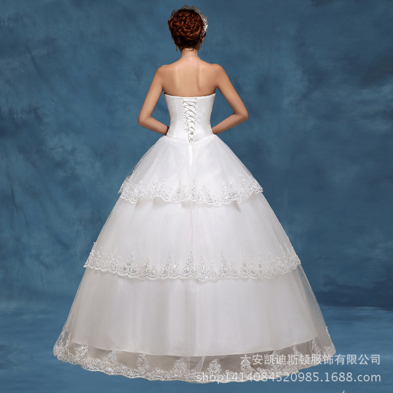 Custom Made Wedding Dresses Princess Cut Strapless Tiered Blue Gowns Europe Elegant Bridal Gown Priodas In From Weddings