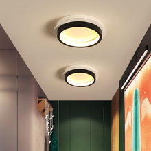 Square/Round/Triangle Modern New Led Chandelier For Bedroom Corridor Aisle White/White and Black Color Fixtures