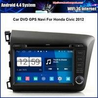 Android 4 4 4 1024 600 Capacitive Screen Car DVD For Honda Civic 2012