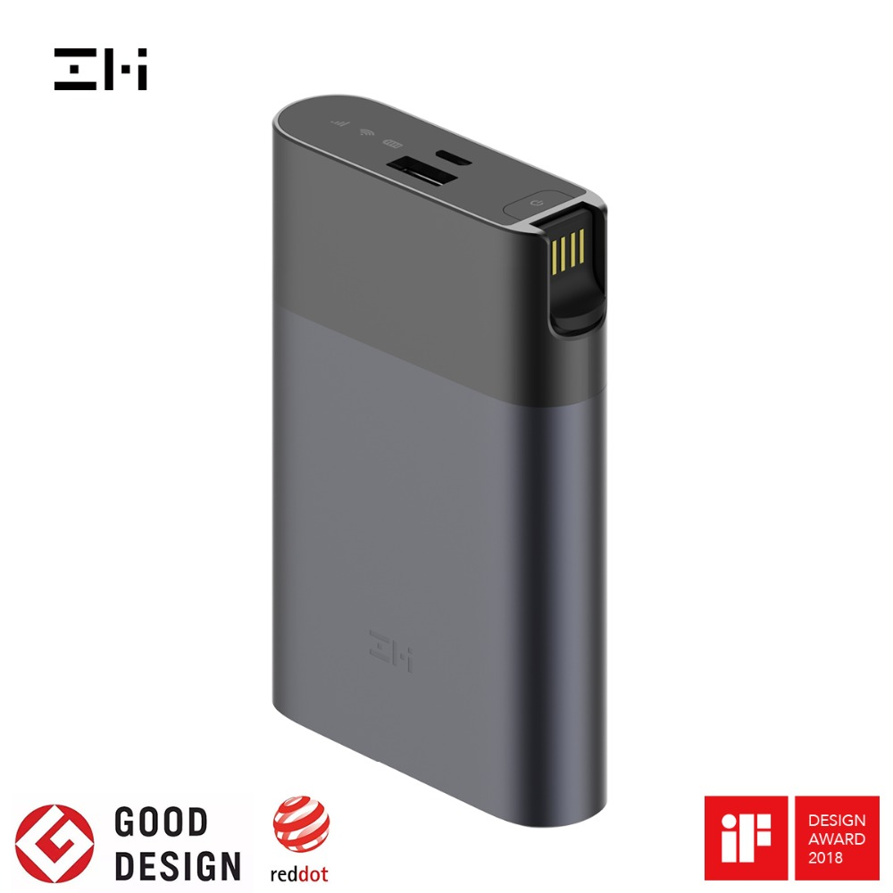 ZMI MF885 4G Wifi Router 10000 mAh Power Bank Drahtlose wifi repeater 3G4G Router Mobilen Hotspot Schnelle versand