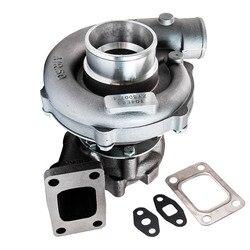 Универсальный Турбокомпрессор Для T3 T4 T04E A/R. 50 турбины A/R. 57 масляное охлаждение для двигателей 1.6L-2.5L