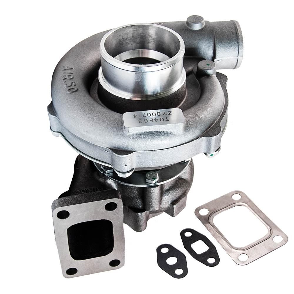 Universal Turbo Turbocharger สำหรับ T3 T4 T04E A/R. 50 Turbine A/R. 57 น้ำมัน Cooling สำหรับ 1.6L-2.5L เครื่องยนต์