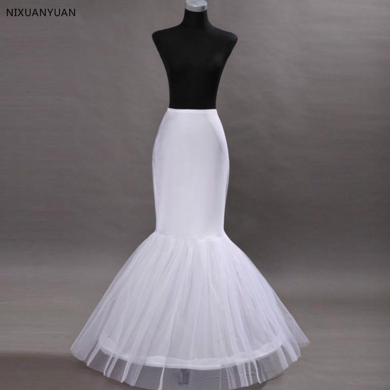 Mermaid Petticoat Fishtail Style Crinoline Elastic Waist Wedding Dress Crinoline Trumpet Underskirt