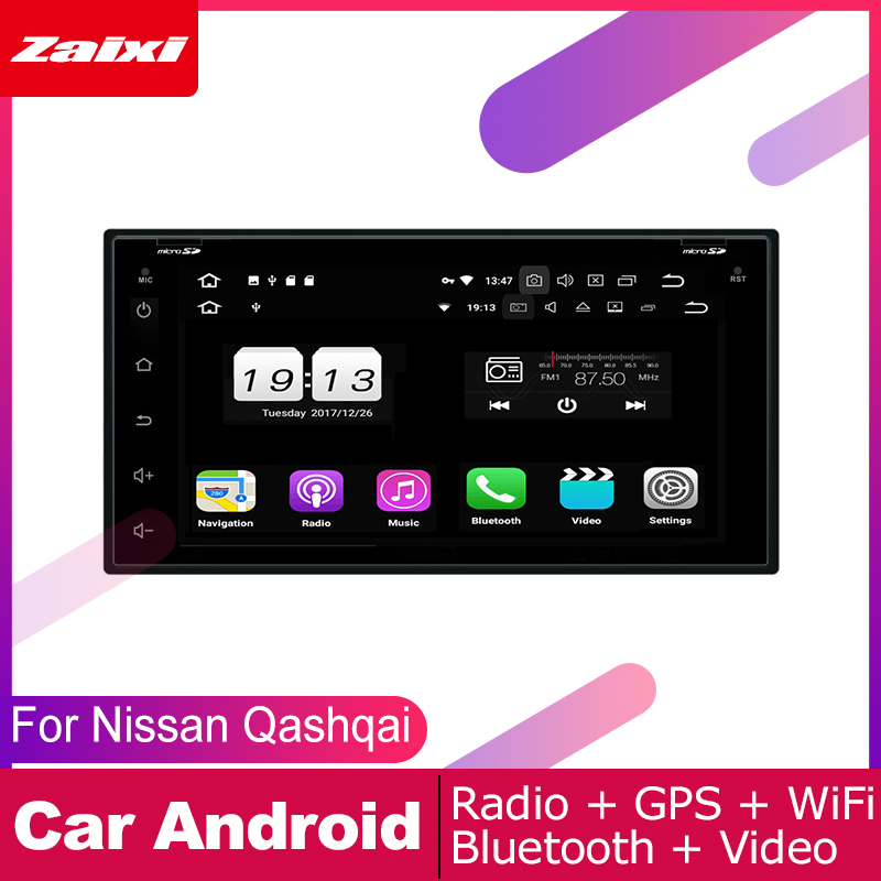 ZaiXi For Nissan Qashqai Dualis 2 Car Android Multimedia System DIN Auto DVD Player GPS Navi Navigation Radio Audio WiFi