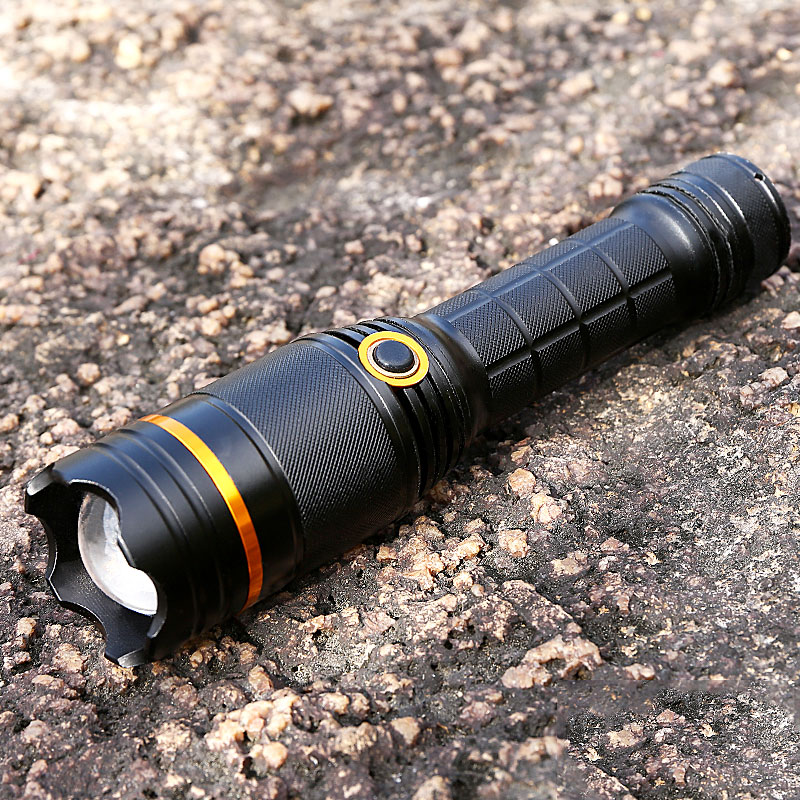 Купить с кэшбэком Tactical flashlight 18650 cree t6 Camping Lanterna Torch Lampe Torche Ultra Puissante Taschenlampe Zaklamp Help LED Flashlight