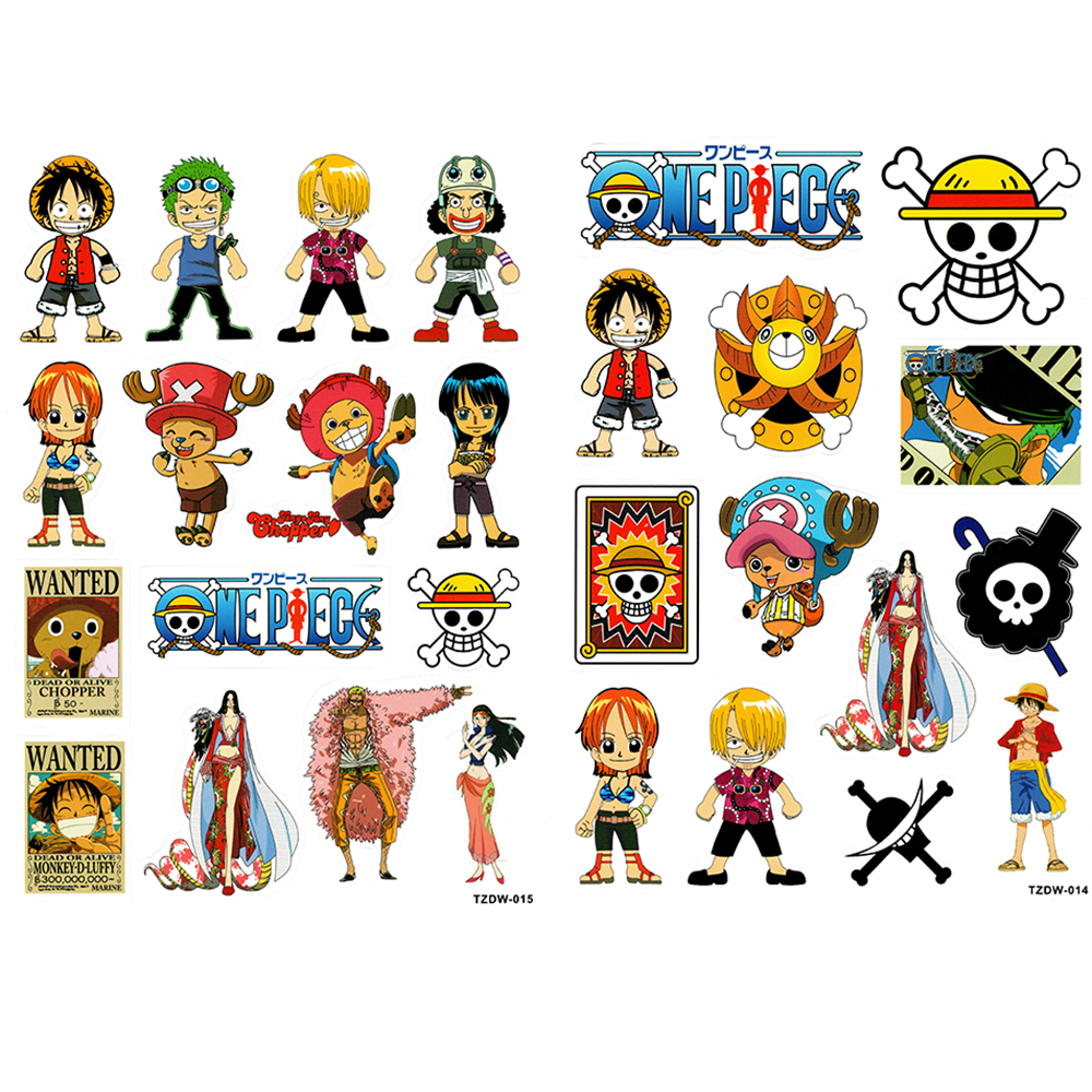 2xa4 28 pcs one piece monkey d luffy boa hancock stiker untuk laptop bagasi mobil mainan tahan air doodle decal sticker di stiker dari mainan hobi