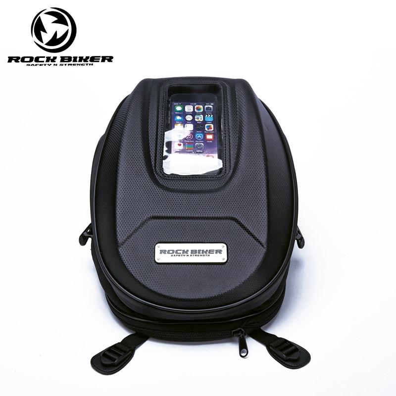 купить Durable Carbon fiber Motorcycle Tank bag Magnetic for honda motocycle saddle bags Top case motorcycle trunks sac moto онлайн