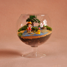 Прозрачная стеклянная ваза Террариум чашка в форме бутылки цветочный контейнер Сад Крытый офис бар украшение орнамент для растений