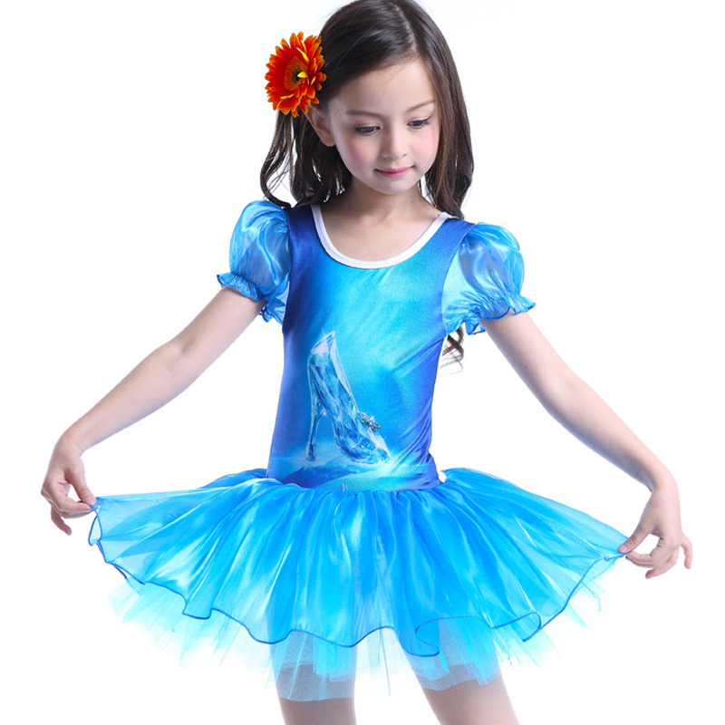 girls blue ball grow dress children clothing christmas