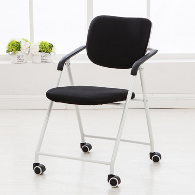 fold away computer chair best office for back folding chairs domestic bow staff meeting student leisure roller skating