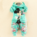 minnie Baby Clothing suit Cartoon Children's Sports Suit long sleeve T-skirt and pants Cotton Casual Track suits Kids Clothes