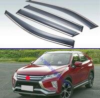 Für Mitsubishi ECLIPSE KREUZ 2018 2019 Kunststoff Außen Visor Vent Shades Fenster Sonne Regen Schutz Deflektor 4 stücke