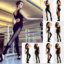 2017 Bodycon Bodysuit Be Fitness Playsuit Mesh Pathcwork Sexy Wome Long Rompers Women Jumpsuits Summer women's bodysuits