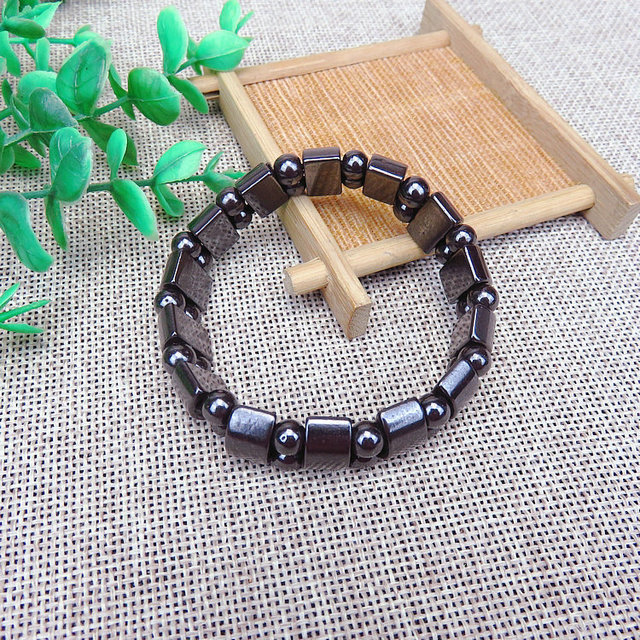Magnetic therapy Health care Loss Weight Effective Black Stone Bracelets slimming Stimulating Acupoints  Arthritis Pain Relief 3
