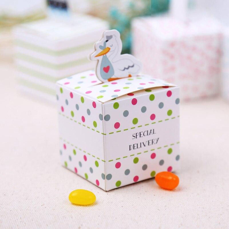 Us 2899 100 Teilelos Spezielle Lieferung Storch Bevorzugungskasten Baby Geburtstagsfeier Liefert Süß Candy Boxen Geschenk Verpackung Favors