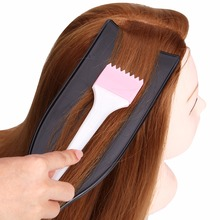 Pro barber salon accessories Salon Hairdressing Dyeing Board DIY Hair Coloring Tint Long Coating Plate for Barber Design Styling 24pc plastic long styling barber salon tool hairdressing spiral hair perm rod small pro