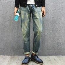 Мужчины Проблемные Голубые Джинсы Новый 2017 Прямо Fit Царапины Дизайн Одежды Промывают Мужчины Джинсовые Брюки Бесплатная Доставка