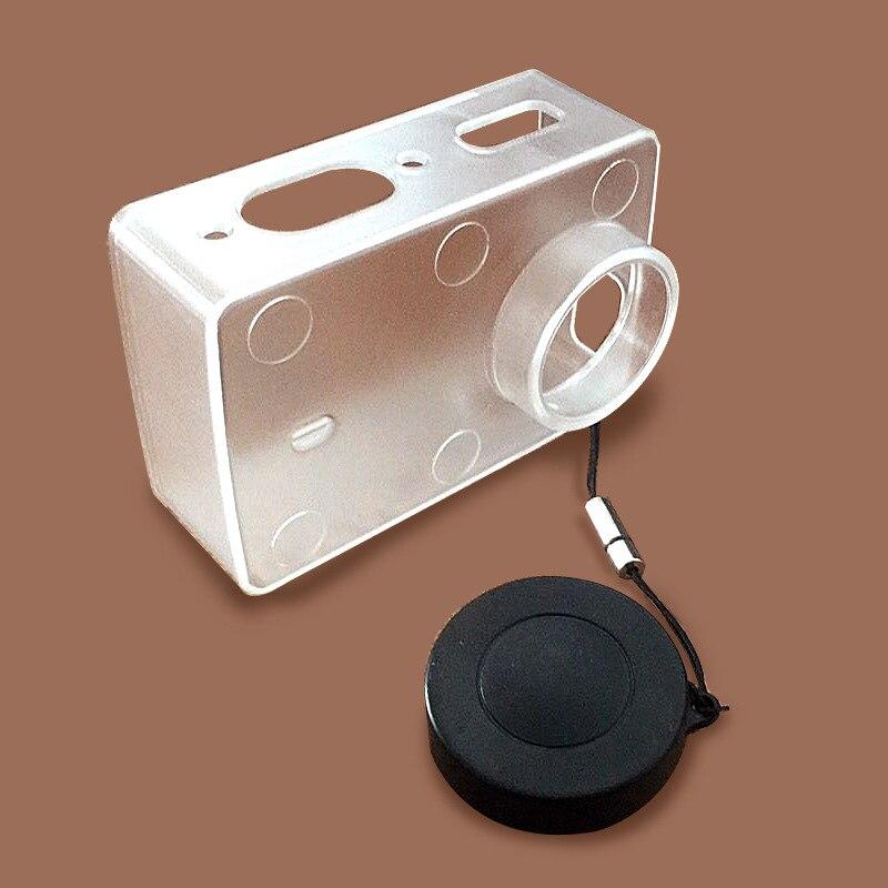 Escudo protetor à prova dwaterproof água caso transparente ultrafino com tampa da lente capa para xiaomi yi 4 k câmera de ação 2 ii acessórios