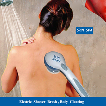 Spin Spa Electric Bath Brush Shower Body Massage 5 in 1 Cleaning Exfoliate Bath Accessories