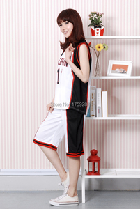 Image 4 - ملابس رياضية لكرة السلة من Kuroko no Basuke SEIRIN ملابس تنكرية لكرة السلة من Kurokos لكرة السلة من Kuroko Tetsuya للرجال والنساء