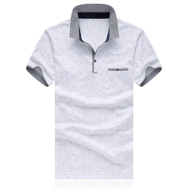 Moda hombre Polo 2016 Cabida Para Hombre Camisas de Polo de Primavera Polo Marca Camisas Para Hombre M-XXXXL 5XL D0180
