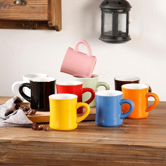 360 Ml Customized Logo Heavy Weight Ceramic Coffee Mugs Mocha Mug Garland