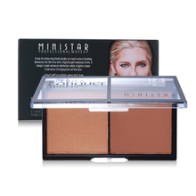 3D Face 2 in 1 Shimmer + Matte Pressed Powder Contour Palette Brand Face Makeup Set Glitter Powder Bronzer Highlighter Cosmetic