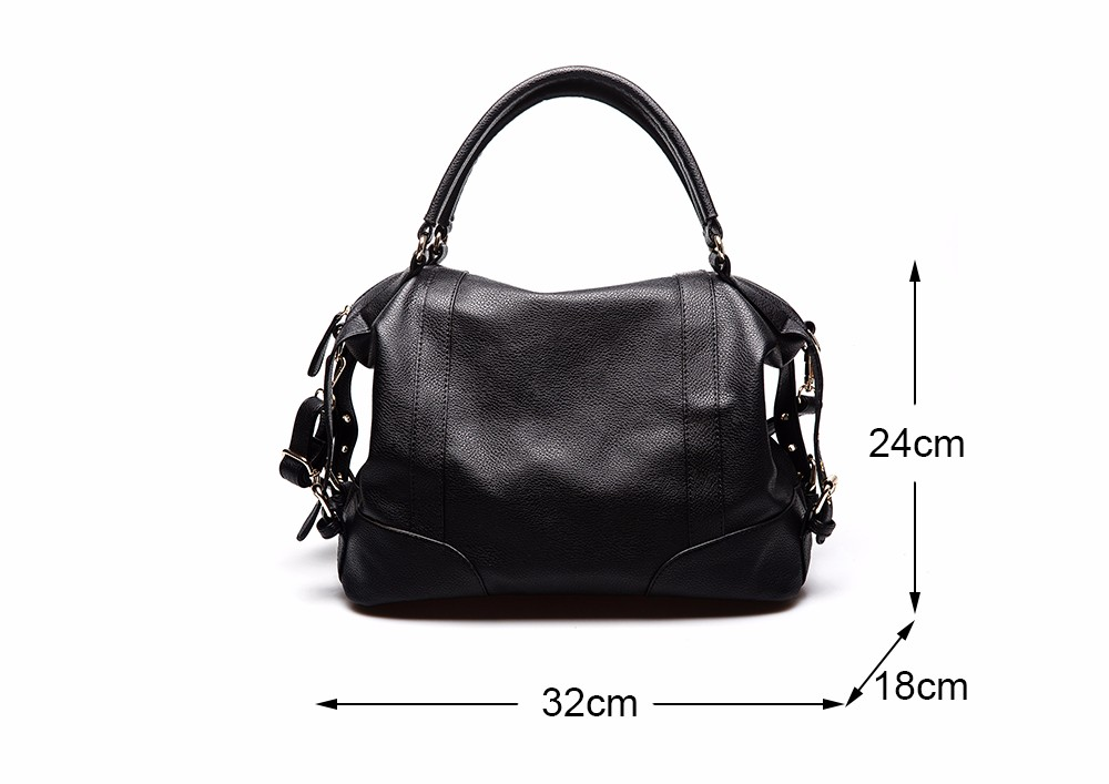 Women Fashion Soft PU Leather Handbag Lichi Pattern Female High Quality Casual Shoulder Bag Classic Solid Tote Dollar Price TTOU