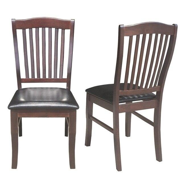 Conjunto de 2 sillas comedor chinas modernas cuero PU sin brazo con diseño  ergonómico silla trasero HW58880