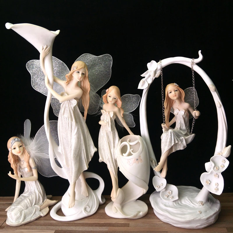 Resin Angel Home Decoration Flower Fairy Garden Figurines