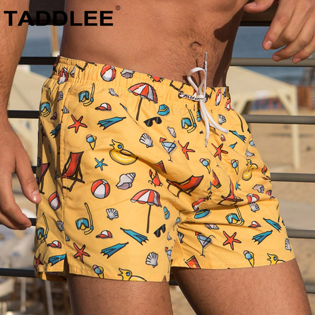 Taddlee Brand Men's Quick-drying Beachwear Board Shorts Mens Swimwear Swimsuits Active Bermudas Man Workout Cargos Boxers Trunks