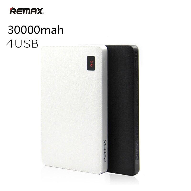 Remax 30000 mah batterie externe Portable 4 USB sortie chargeur de batterie externe pour iPhone X 8 8plus pour les téléphones mobiles iPad