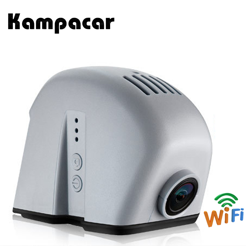 Kampacar Hidden Wifi Car DVR For Audi Q5 2012 A7 A8 2015 Q3 2014 R8 Mini Video Recorders Car Wifi Dual Dash Cam Camera Auto DVRs bigbigroad for audi a1 a3 a4l a5 a6l a7 a8 q3 q5 r8 2013 2014 2015 2016 car wifi dvr video recorder dual camera dash cam