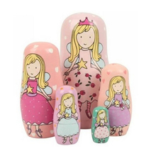 5 Nesting Cute Wooden Nesting Dolls Matryoshka Russian Doll Christmas Gift