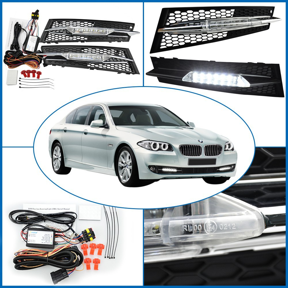 CYAN SOIL BAY For BMW E92 LCI Coupe/E93 LCI Convertible 2011-2013 Led Daytime Running DRL Light 2012 cyan soil bay for bmw e90 lci sedan