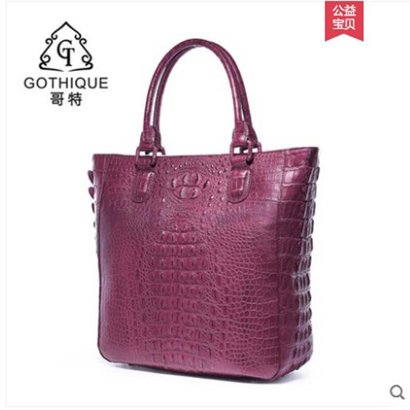 gete 2019 new Imported fashion Thai crocodile handbag for lady European and American leather simple crocodile women handbag gete 2019 new Imported fashion Thai crocodile handbag for lady European and American leather simple crocodile women handbag