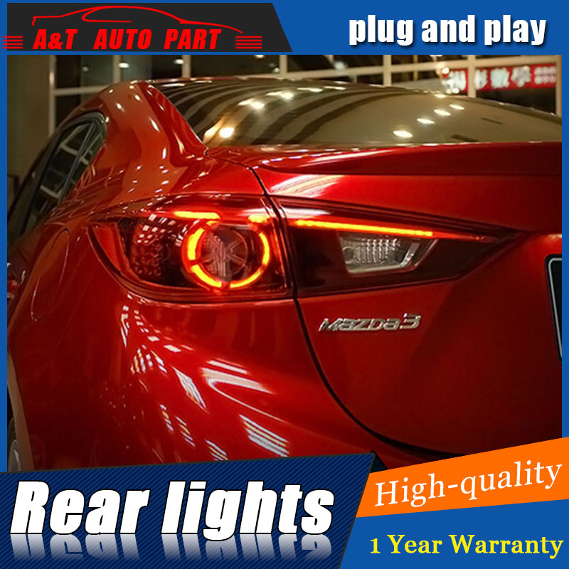 Car Styling for Mazda 3 Taillights 2014 2015 2016 For Mazda 3 axela LED Tail Lamp Rear Lamp DRL+Brake+Park+Signal led lights car styling tail lamp for toyota corolla 2014 2015 2016 taillights tail lights led rear lamp led drl brake park signal stop lamp