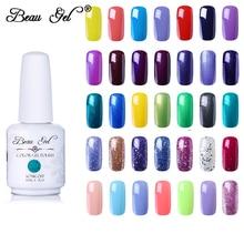 Beau Gel 15ml UV Gel Nail Polish Semi Permanent Glitter Gel Varnish Soak Off Nails Lacquer Nail Art Manicure Nail Gel Polish mustela gel lavant doux