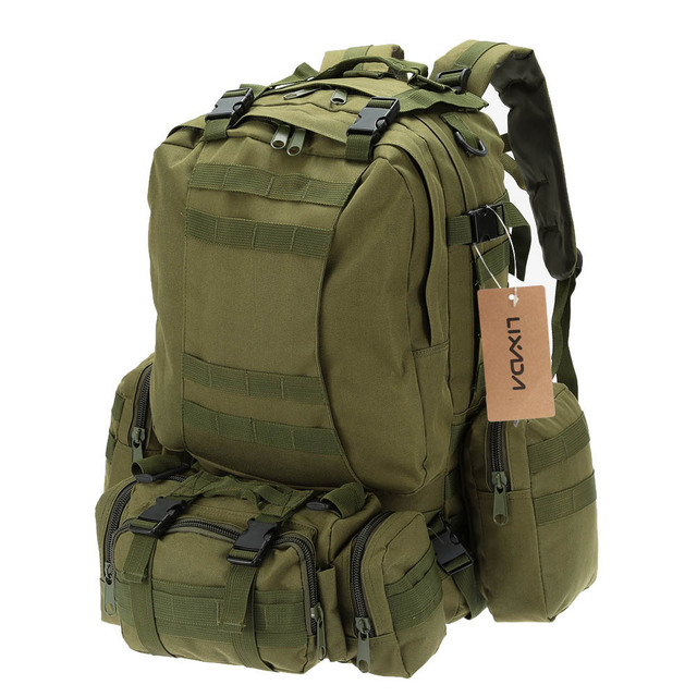 Lixada 50L Military Tactical Backpack Climbing Rucksack Cycling Backpack  Outdoor Bags Travel Sports Bag with MOLLE 9bb0f4a0fa13d
