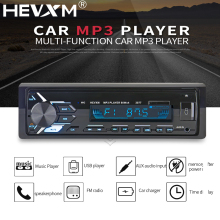 HEVXM 3077 Bluetooth Radio 12V Aux Input Stereo Audio In-dash 1 Din FM USB Remote Control Receiver Car Audio Auto MP3 Player