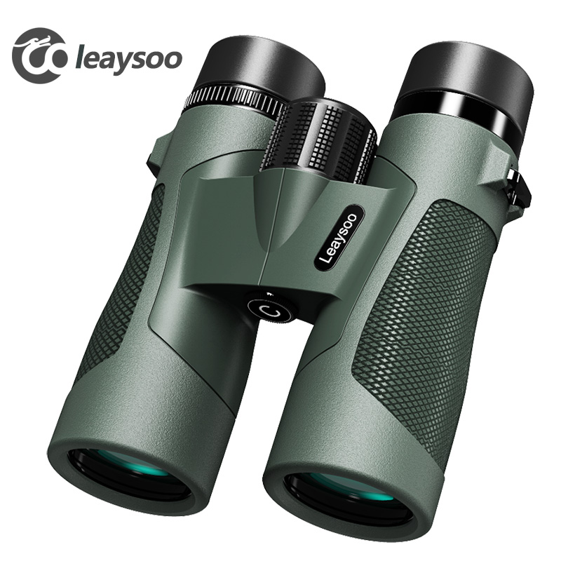 LEAYSOO 8x42 10X42 Professional низкий уровень света ночное видение водостойкий бинокль Кемпинг Охота телескоп призматический бинокль