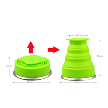 tumblerful 200mL Vogue Outdoor Travel Silicone Retractable Folding Telescopic Collapsible Folding Water Cup