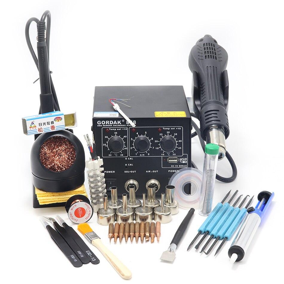 GORDAK 868 High Power Hot Air Gun Soldering Station USB Interface For Mobile Phone Electronic Circuit Welding Repair