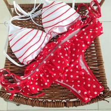 HOT selling layered ruffled women halter swimwear maillot de bain bikini swimsuit lady bathing suit Insert