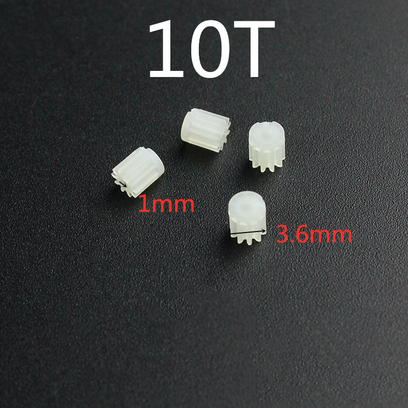 New Arrival 4pcs 3.6mm 1mm 10T 10Teeth Small Gears For 720 816 8520 Coreless Motor Engine R/C JD385 Drone Quadcopter Spare Parts