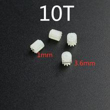 Chegada nova 4 pçs 3.6mm 1mm 10t 10 dentes pequenas engrenagens para 720 816 8520 coreless motor r/c jd385 zangão quadcopter peças de reposição