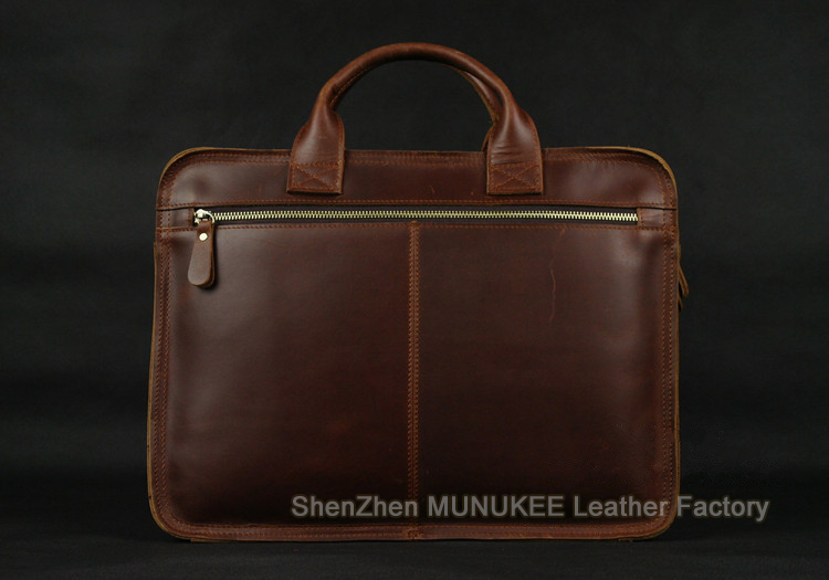 Luxury Italian Genuine Leather Men's Briefcase Business Bag Leather laptop briefcase Men Shoulder Bag Messenger Bag Tote Handbag